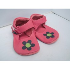 Baby Paws babyslofjes Lucy Fuchsia Paarse bloem, Lime hart