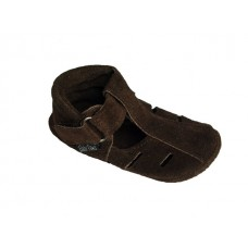Baby Paws Summa Sandal Chocolade Suede