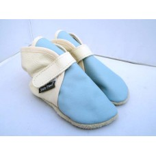 Baby Paws Wrapz Contrast Ivoor Baby Blauw