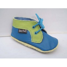 Baby Paws babyslofjes Shoes Blauw Lime